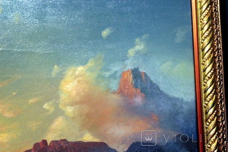 Копия картины худ .Айвазовского.(маринизм)-масло-холст, фото №5