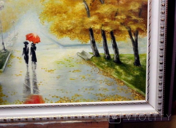 Осенний пейзаж.(холст-масло) рама-пластик-№2. копия, фото №6