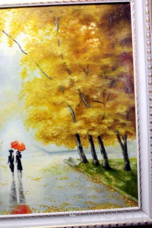 Осенний пейзаж.(холст-масло) рама-пластик-№2. копия, фото №10