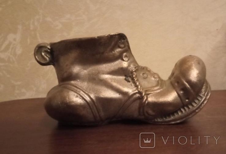 Пепельница Башмак, бронза, нимор СССР, фото №2