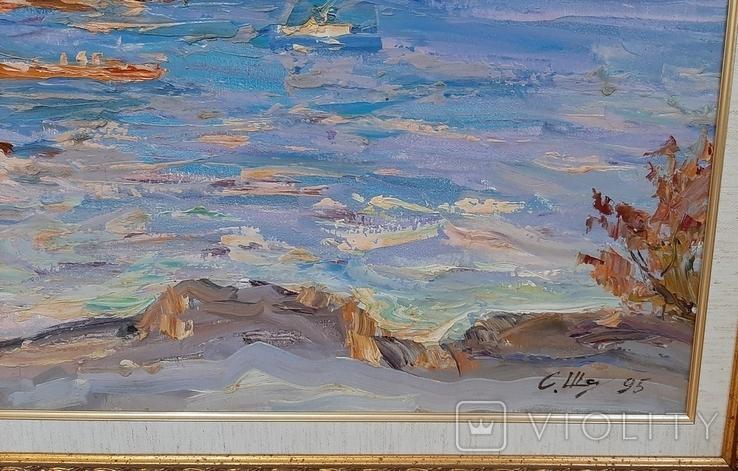 У синего моря* х/м. 47,5*70,5 Заслуженный худ.Украины Шаповалов С.Г., фото №4
