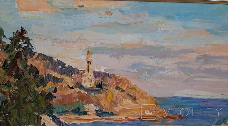 У синего моря* х/м. 47,5*70,5 Заслуженный худ.Украины Шаповалов С.Г., фото №5