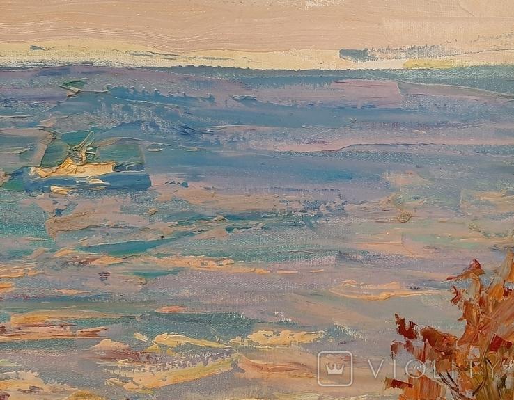 У синего моря* х/м. 47,5*70,5 Заслуженный худ.Украины Шаповалов С.Г., фото №6