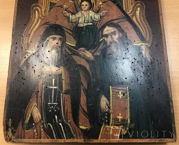 Икона Богородицы Печерская 34х25 см, фото №4