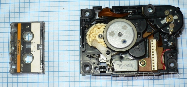 Лентопротяжный механизм под микрокассету, с автоответчика., фото №7