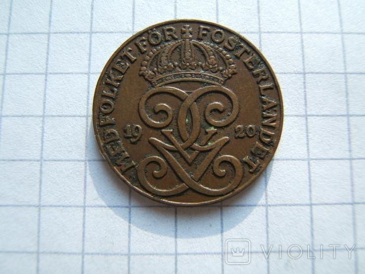 Швеция 2 эре 1933 г.  KM#778, фото №4