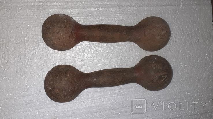Гантели 2 кг. Гантеля СССР, фото №5