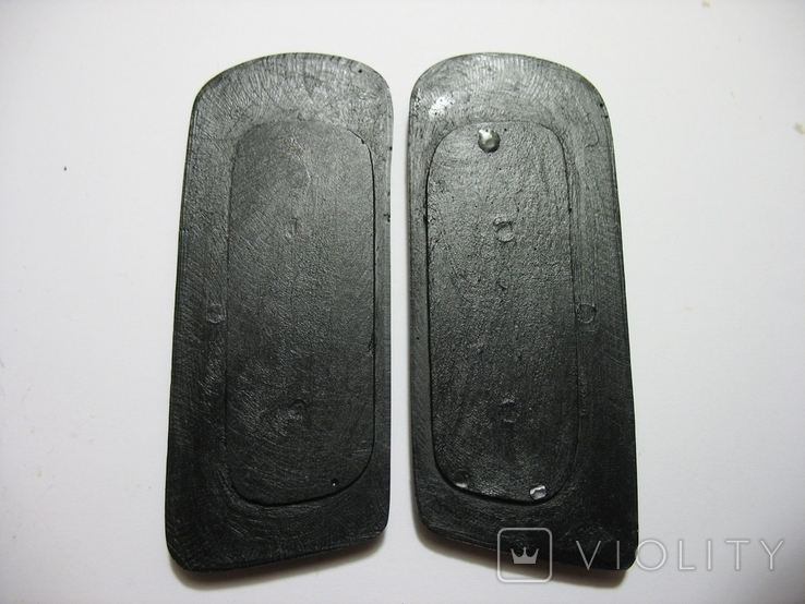 Бюст Адольф Гитлер вар.2, материал бронза и накладки Браунинг 1910. копии, фото №8