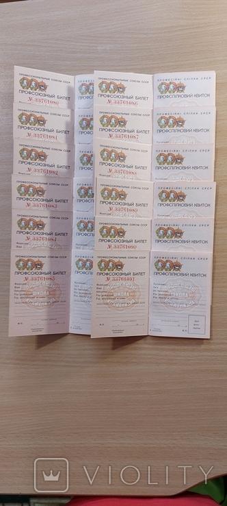 Профсоюзные билеты NN 33761080- 33761091, фото №2