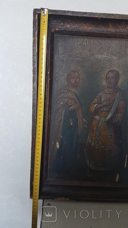Икона,старинная. Покровительница семьи и брака. Гурий, Авив, Самон., фото №3