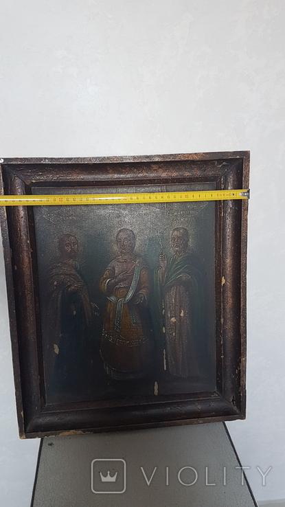 Икона,старинная. Покровительница семьи и брака. Гурий, Авив, Самон., фото №4