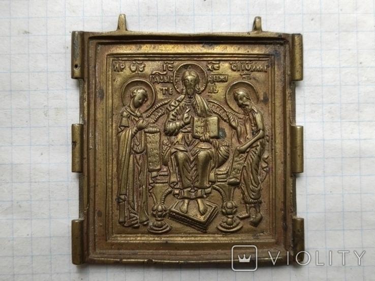 Икона складня центральная часть, фото №4