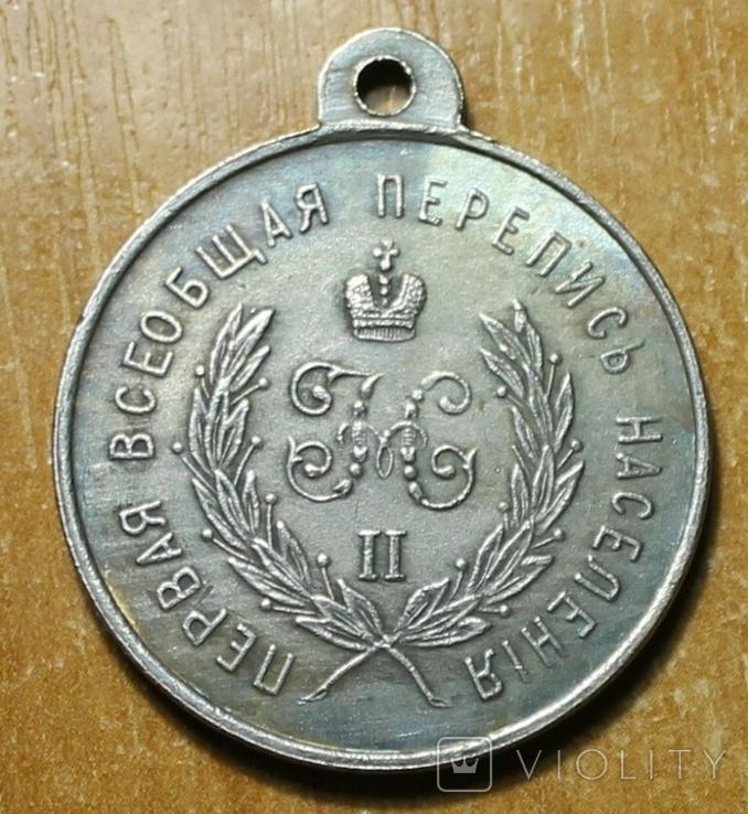 КОПИЯ медаль за труды по первой всеобщей переписи населения 1987 год, фото №7