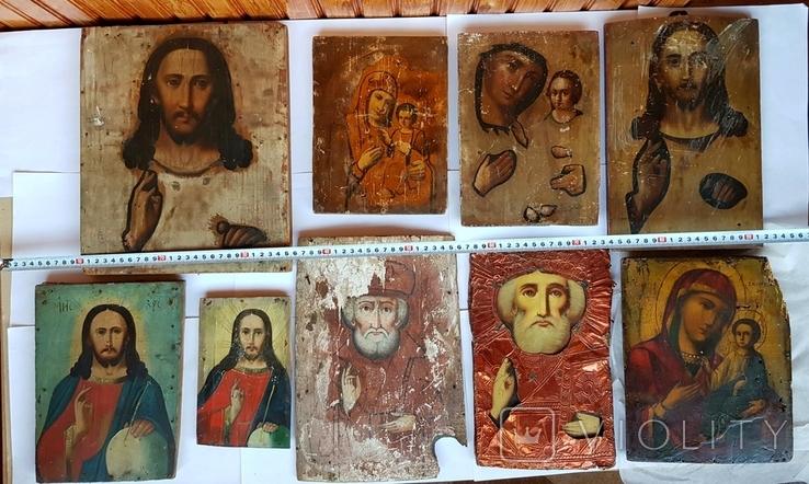 9 икон под восстановление., фото №3