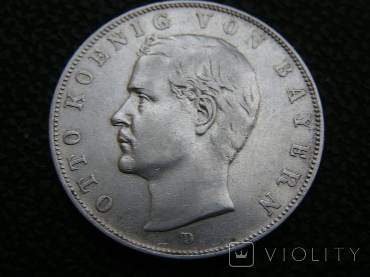 3 марки 1910 D Бавария. Отто., фото №2