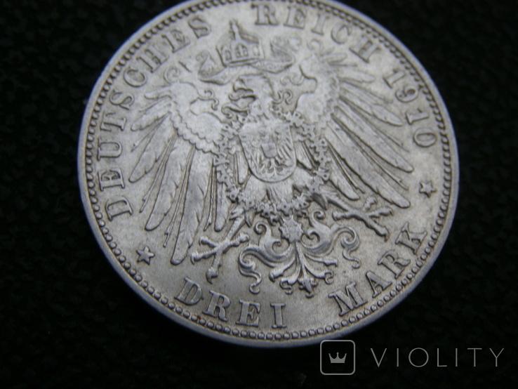 3 марки 1910 D Бавария. Отто., фото №5