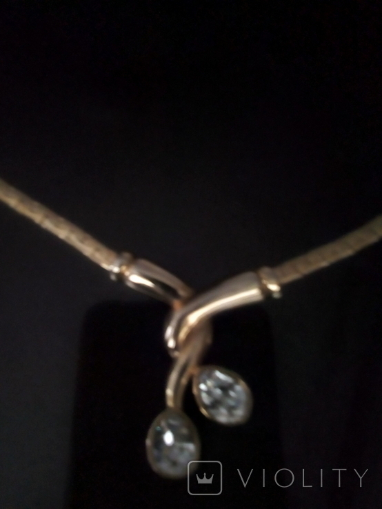 Ожерелье Класика б/ж, фото №3