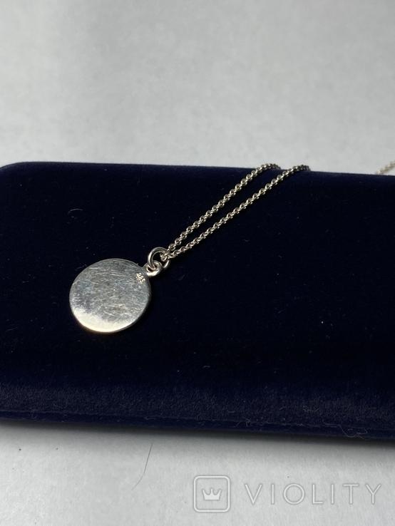 Кулон на цепочке из серебра 925° 2,40 гр., фото №5