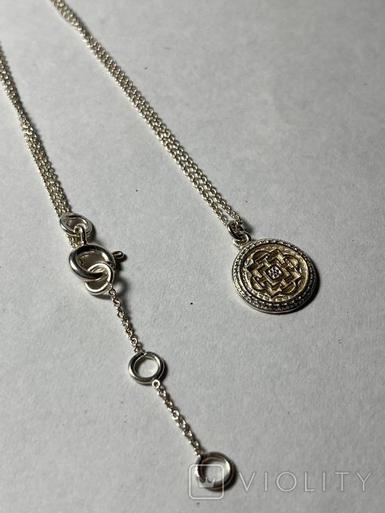 Кулон на цепочке из серебра 925° 2,40 гр., фото №10