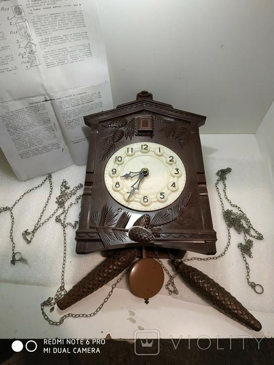 Часы с кукушкой Маяк ссср, фото №3