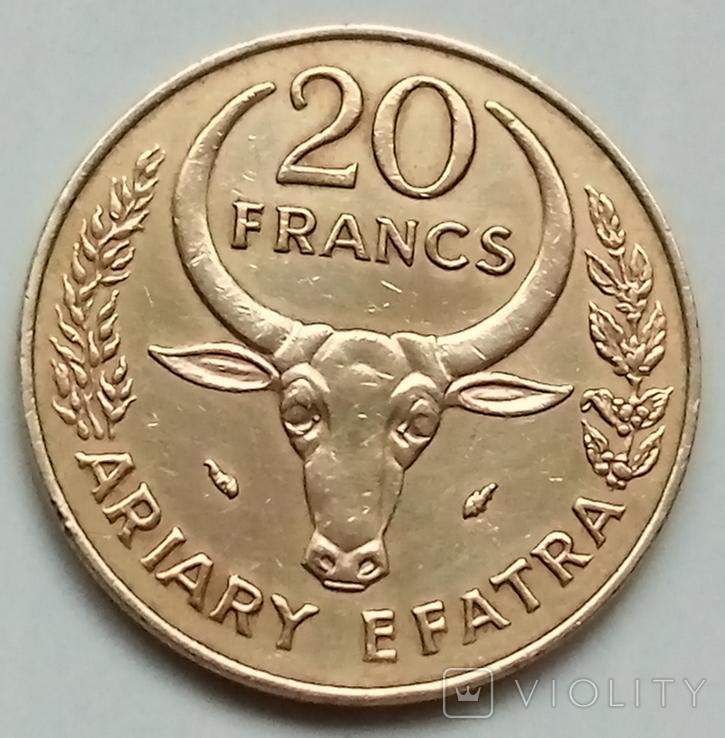 20 франков 1978 г. Мадагаскар, фото №2