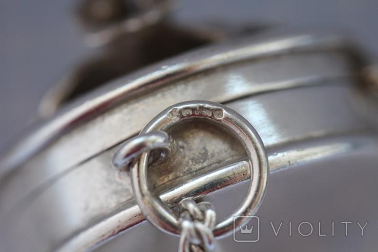 Серебряная цепь с открывающимся кулоном, фото №4