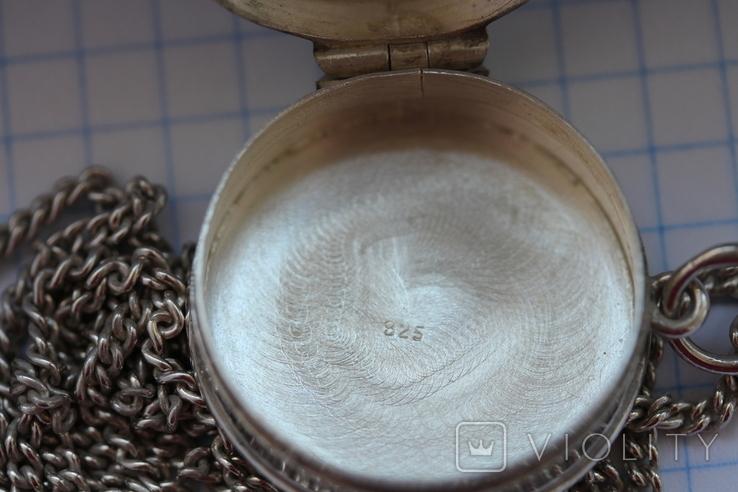 Серебряная цепь с открывающимся кулоном, фото №7