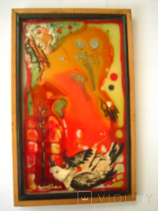 Картина Скворец 1993 года.Одесского художника Чернова В.И., фото №3