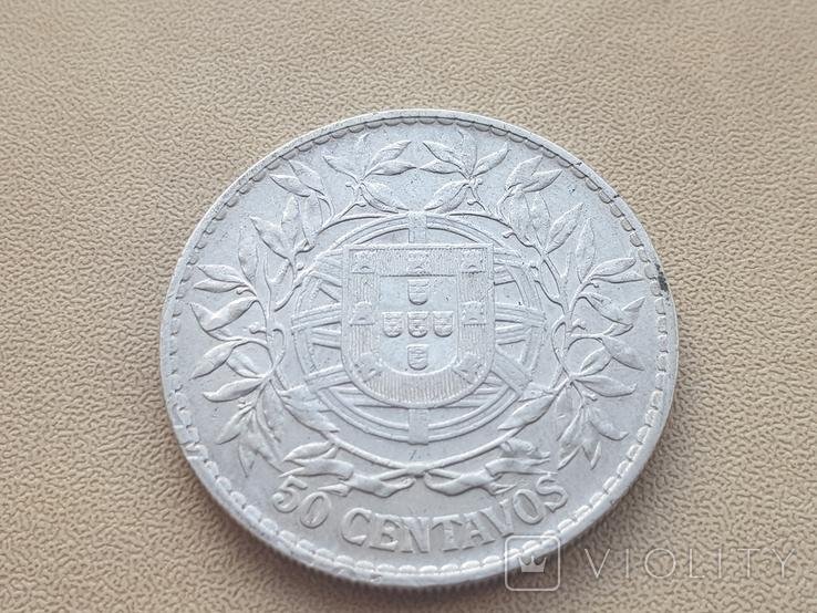 Португалия 1913 год 50 сентаво Серебро, фото №3