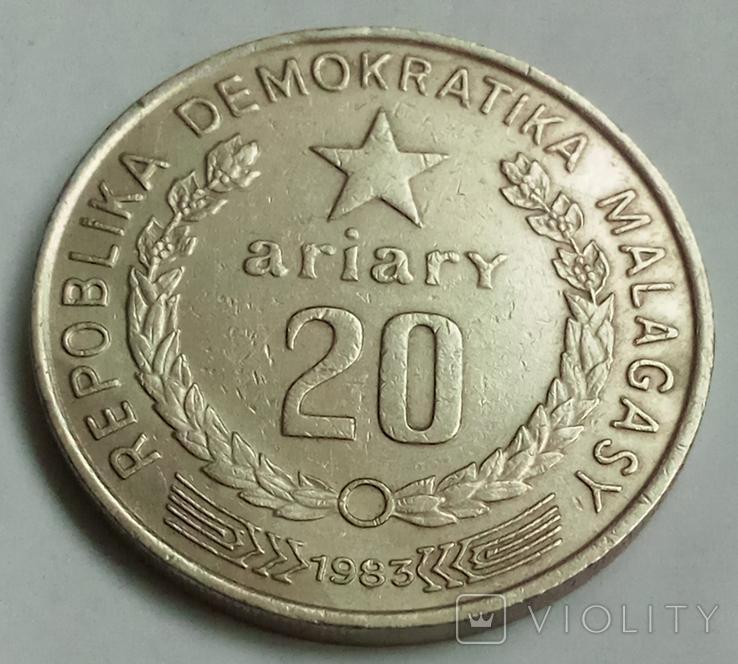 20 ариари 1983 г. Мадагаскар, фото №3