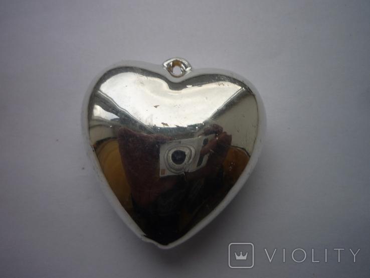 Игрушка на ёлку сердечко, фото №3