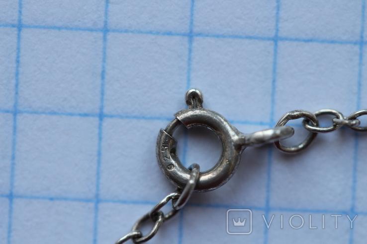 Кулон-брошь камея в серебре, фото №8