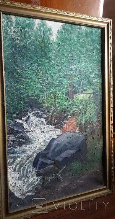 Красивая работа  неизвестного Закарпатского  мастера (80×55), фото №3