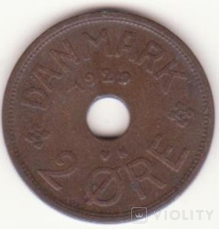 Дания 2 эре, 1929 (лот 139), фото №2
