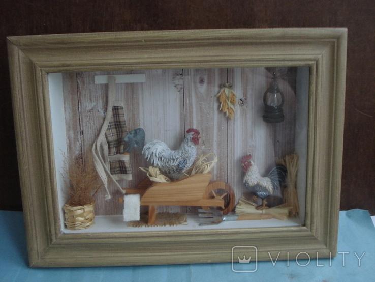 """Птичий дом"" объёмная картина., фото №2"