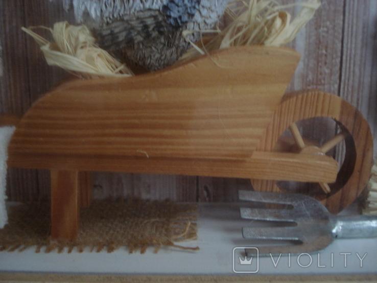 """Птичий дом"" объёмная картина., фото №8"