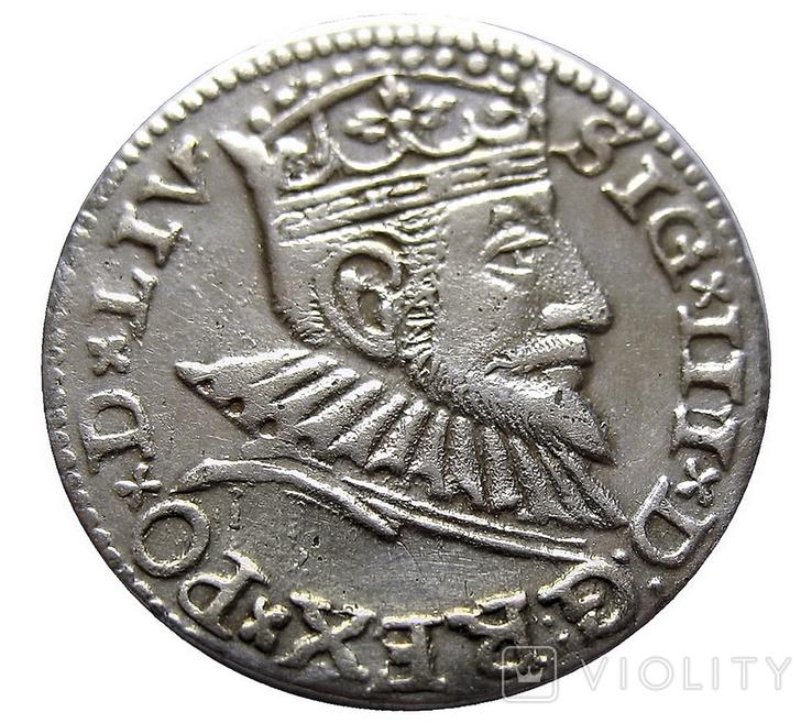Трояк 1593 г., Сигизмунд ІІІ Ваза, фото №2