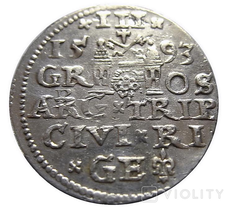 Трояк 1593 г., Сигизмунд ІІІ Ваза, фото №3
