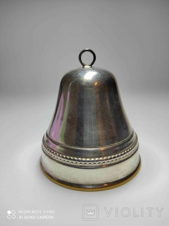 Музыкальный колокольчик, серебро., фото №6