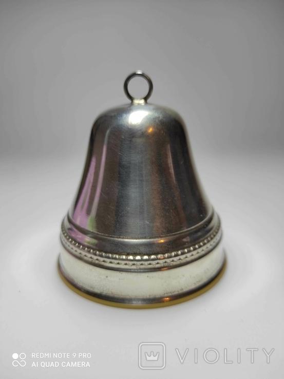 Музыкальный колокольчик, серебро., фото №2