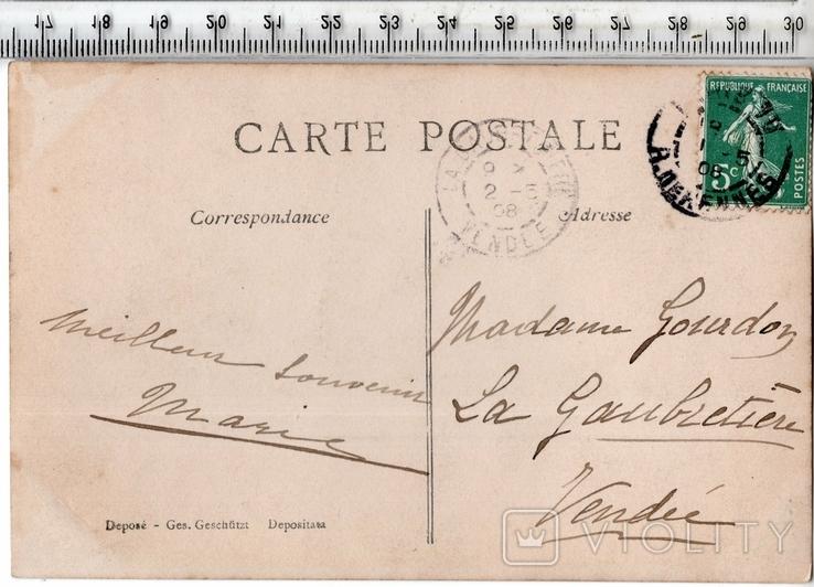 Старинная открытка. 1908 год. Дети.(3), фото №3