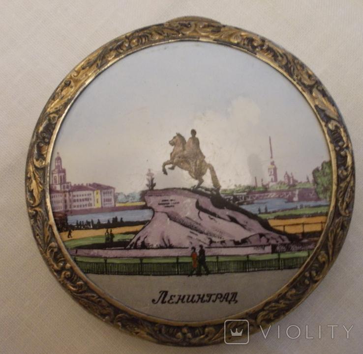"""Пудреница """"Ленинград"""" СССР Серебро, фото №9"""