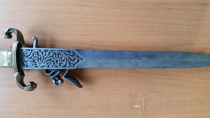 Винтажный кремневый пистолет Ketland - копия кинжала, фото №4