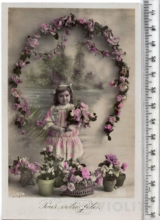 Старинная открытка. 1910 год. Дети.(3), фото №2