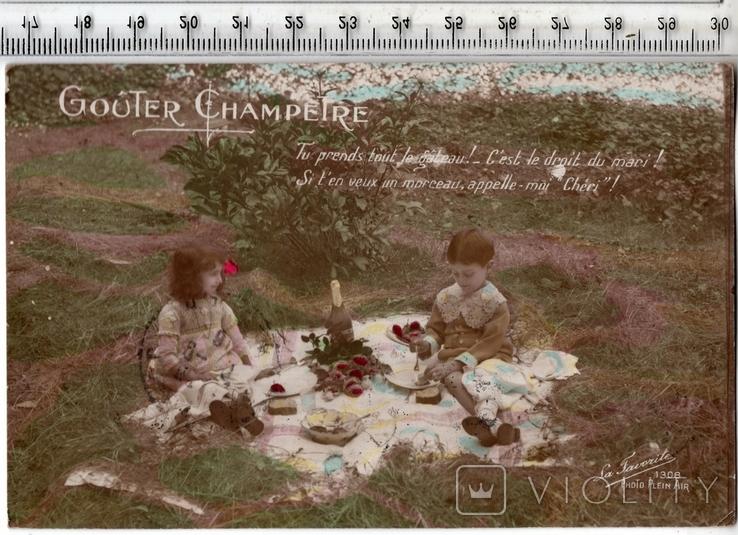 Старинная открытка. 1916 год. Дети.(3), фото №2