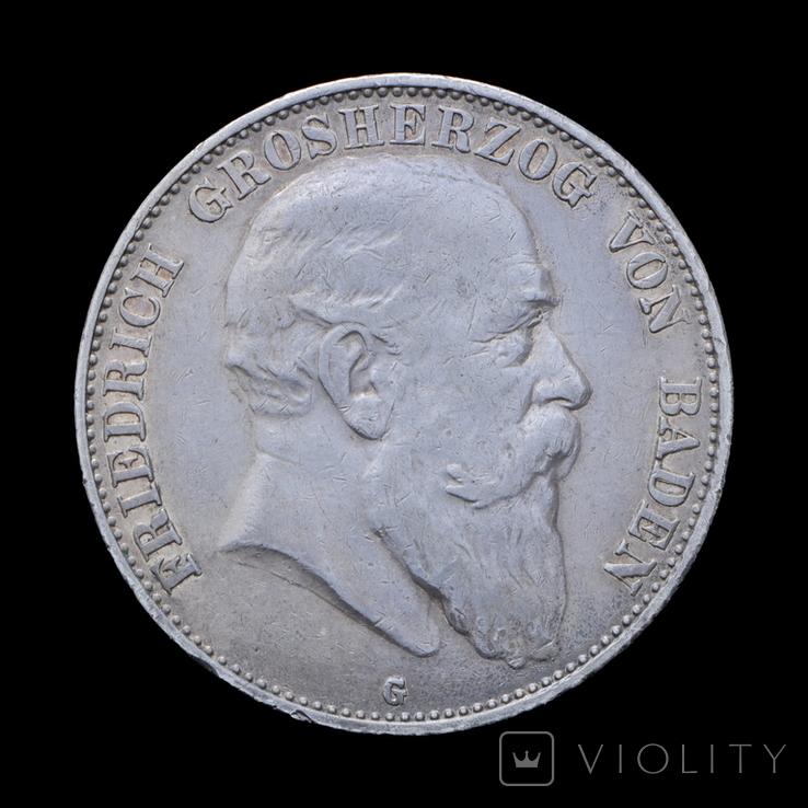 5 Марок 1907 Фридрих, Баден, фото №2