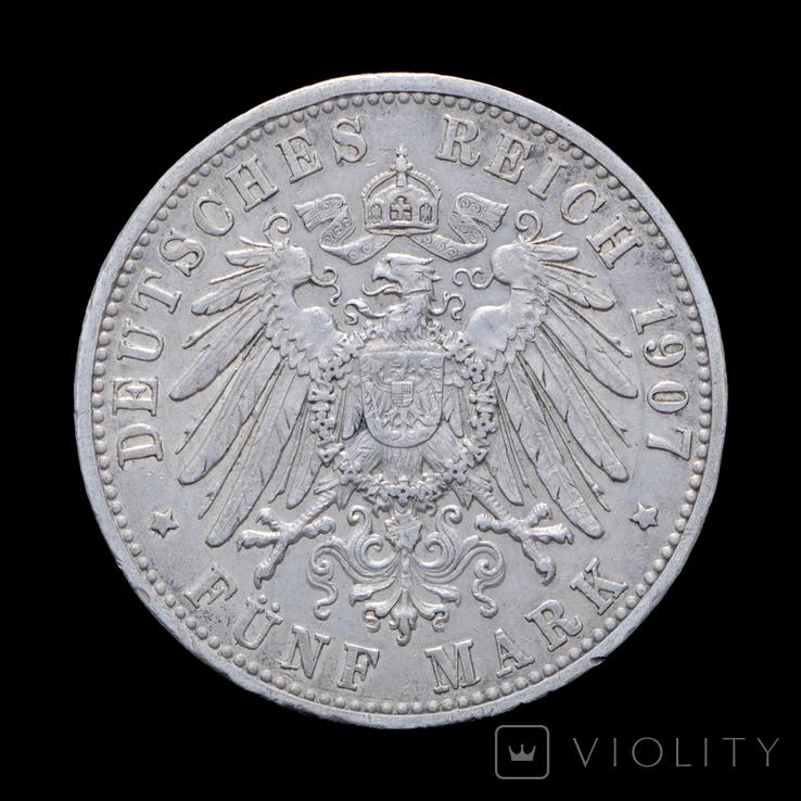 5 Марок 1907 Фридрих, Баден, фото №3