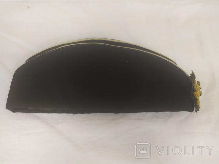 Пилотка ВМФ СССР с кокардой. Шитье канителью. Размер 55, фото №6