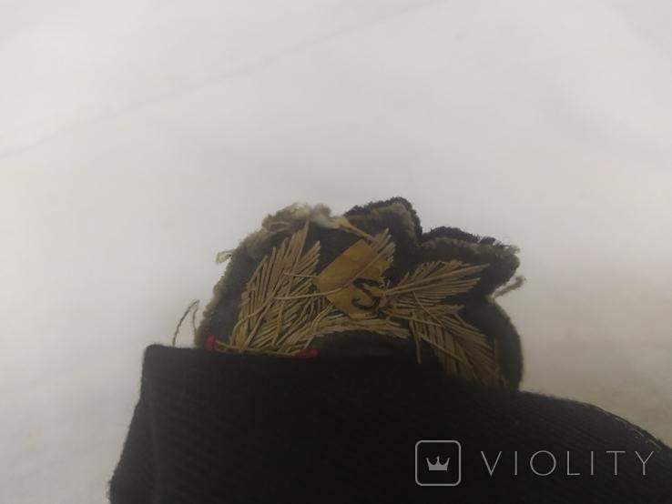 Пилотка ВМФ СССР с кокардой. Шитье канителью. Размер 55, фото №14