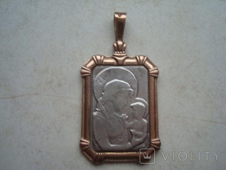 Кулон,подвес,ладанка,серебро,позолота,5,88гр., фото №2